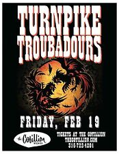 TURNPIKE TROUBADOURS 2016 WICHITA CONCERT TOUR POSTER - Country/Roots/Folk Rock