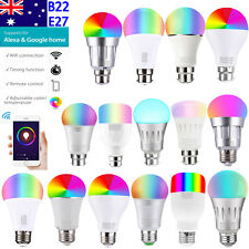 AU 11W 15W Smart WiFi Light B22 E27 RGB LED Bulb For Amazon Alexa Remote Control