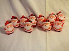 SANTA PLASTIC LIGHT COVERS VINTAGE SET OF 10