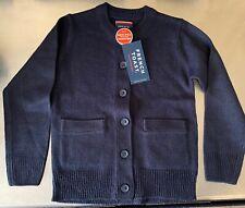 (2) New French Toast Girls School Uniform Navy Cardigan Sweaters - Size 4/5