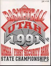 High School Basketball Program 1991 Utah State Championship H.S.