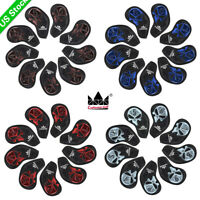 9x Golf Iron Head Cover Headcover For Taylormade Mizuno Callaway Titleist Ping