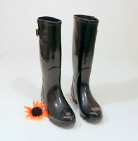 Forever 21 Rubber Riding Boots US 8 Black #C026