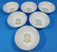 6 Lenox Village Dinnerware Set Cereal Bowls 6.5 Inches