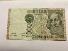 1982 Italy 1000 Lire Note Avg. Circ. #5687