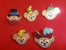 5 Disney pins Complete set 2013 WDW Duffy wearing Character hats As Shown lotboX