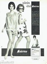 PUBLICITE ADVERTISING 116  1965  Materna  vetements maternié grossesse été