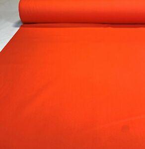 "Twill Fabric Apparel Hunter Orange Canvas Upholstery 8 Oz. 60""W Poly Cotton"