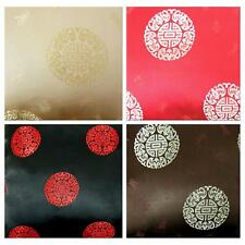 Faux Silk Brocade (Long Life Fortune) Jacquard Damask Kimono Fabric Material BL6