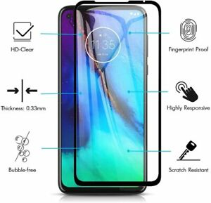 2xFor Motorola Moto G8 / G8 Power Full Coverage Tempered Glass Screen Protector