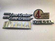 1969-1980 TOYOTA LAND CRUISER FJ40 BJ40 FJ45 BJ43 Emblem Plate Set Left Diesel