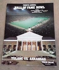 HALL OF BOWL PROGRAM - TULANE vs ARKANSAS - 1980 - 4th YEAR - EX+ SHAPE