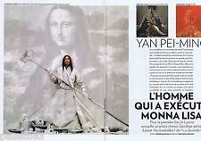 COUPURE DE PRESSE CLIPPING 2009 Yan Pei-Ming  (4 pages)
