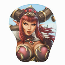 WOW alexstrasza 3D Oppai Gaming Mouse Pad with Soft Wrist Rest