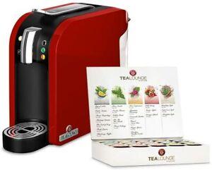 TEEKANNE Tealounge System Teemaschine Rot Teekapselmaschine inkl. Starter-Box