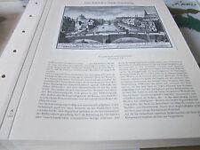Nürnberg Archiv 1 Stadtbild 1050 Prospekt 3r steinerner Brücken 1714 Delsenbach