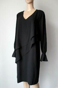 Laurel Kleid mit Volants, in schwarz, Größe 42