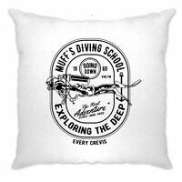 Diving School Cushion Cover The Real Adventure Logo Deep Sea Ocean Water