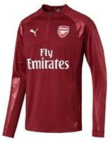 Arsenal Puma Mens Training Sweatshirt Red 1/4 Zip Football Track Jacket 2017-18
