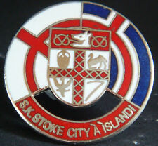 STOKE CITY FC SUPPORTERS CLUB Badge Brooch pin In chome 29mm Dia