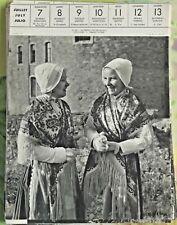 1957 Le Portel Pas-de-Calais Costumes régionalisme art print