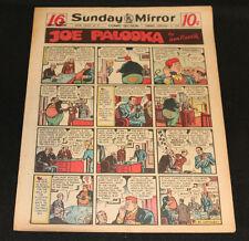 1950 Sunday Mirror Weekly Comic Section February 5th (Vf) Superman Daisy Mae App