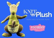 Australian Souvenir Knit n Plush Australia Kangaroo with Joey Super Soft Toy