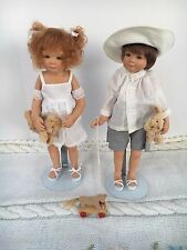 Master Piece Gallery Sarah & Janke Porcelain Doll By Gabriele Muller 12 in. COA