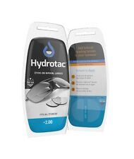Hydrotac Stick-On Bifocal Lenses +2.00 - Turn Any Pair Of Glasses Into Readers!