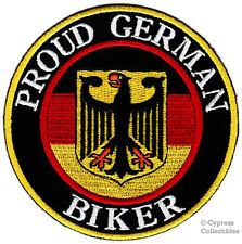 PROUD GERMAN BIKER embroidered PATCH GERMANY EAGLE FLAG iron-on Aufnäher EMBLEM