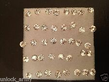 Dome Clear Swarovski Crystal Bling Size L Handmade Stud Earrings 10 Pairs A16