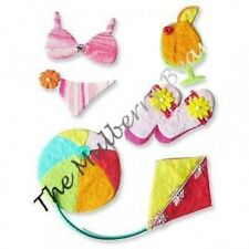 5 Beach Vacation trip summer Embellishments Handmade paper Scrapbook Party cards
