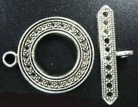 10set Tibetan Silver BIG circle toggle clasps FC610-2