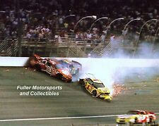 TONY STEWART JEFF GORDON STEVE PARK CRASH AT THE WINSTON 2000 8X10 PHOTO NASCAR