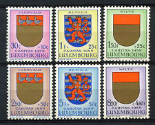 Luxembourg 1959 SG#662-6 National welfare Fund Arms MNH Set Cat £13.50 #A62723
