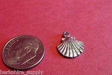 Fifty Pewter Scallop Sea Shell Charms