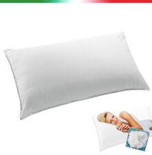 Guanciale cuscino da letto federa cotone morbido anallergico 100% made in italy