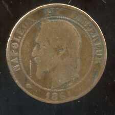 FRANCE  FRANCIA  10 centimes NAPOLEON III   1861 BB  (5)