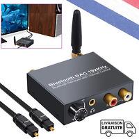 DAC Convertisseur avec Bluetooth 5.0 et Volume contrôle Amplificateur 192K/24bit
