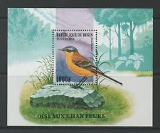 Thematic Stamps Animals - BENIN 1997 SONG BIRDS MS mint