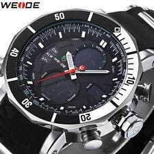 WEIDE Men's LCD Analog Digital Alarm Sports Dual Time Zones Quartz Wrist Watch