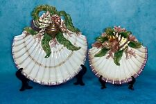 Fitz & Floyd Oceana Seashell Nautical CanapÉ Plate & Small Bowl Set Retired