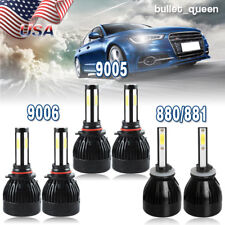 9005 9006 LED Headlight Hi/Lo Beam + 880 899 Fog Bulb for Nissan Titan 2004-2015
