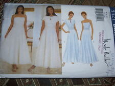 BUTTERICK #5421 - LADIES PROM - EVENING GOWN & SHRUG STYLE JACKET PATTERN 6-10FF