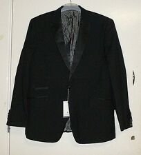 1 Button Slim Fit Black Tuxedo Peak Lapel Jacket Alexander 44r Dobell Box60 42 I