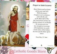 Saint Lazarus with Prayer to St. Lazarus  - Paperstock Holy Card