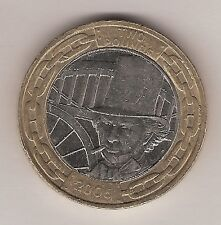 a 2006 £2 coin, showing Isambard Kingdom Brunel
