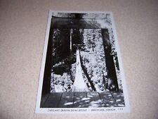 1952 Warning Sign on Capelano Canyon Swing Bridge Vancouver Bc. Rppc Postcard
