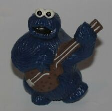 VINTAGE SESAME STREET COOKIE MONSTER WITH GUITAR PVC FIGURE (C) 1982 CAKE TOPPER