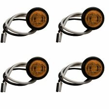"Set of 4 Round 3/4"" LED Clearance Lights - AMBER (3 Diodes)"